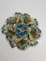 1940s Enamel Brooch Flower Floral 1950s Vintage Jewellery Jewelry Retro Metal