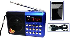 Küchenradio Lautsprecher Akku Mini Box Musikbox FM Radio MP3 Player USB SD Aux 3