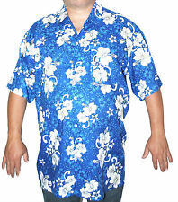 Hawaiian Shirt XL Blue Classic Stag Hen Festival Beach Party Summer Floral