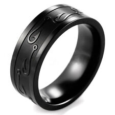 Tungsten Stainless Steel Man Women Wedding Band Ring Black Gold Silver Size 7-13