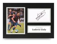 Ludovic Giuly Signed A4 Photo Display Barcelona Autograph Memorabilia + COA