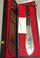 Vintage AITOR Commemorative Machete Dagger Knife Original Case Spain Sheath COA