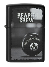Zippo ® SOA Sons of Anarchy Reaper Crew SAMCRO Black maletero billar New nuevo Top