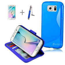 BLUE Wallet 4in1 Accessory Bundle Kit S TPU Case For Samsung Galaxy S6 Edge
