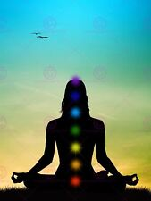 PAINTING BUDDHIST LOTUS CHAKRAS MEDITATION ART PRINT POSTER MP5162A
