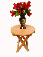 Beautiful Wooden Folding Side Table (13×12×12 inches) (Orange) Furniture