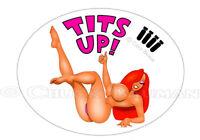 Sexy Bomber Girl Jessica Rabbit Tits Up Bomber girl pin-up sticker decal R