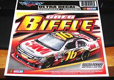 "GREG BIFFLE #16 3M RACING FORD FUSION 6"" X 4"" NASCAR ULTRA DECAL"