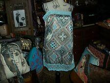 FLEURISH Sassy Egg Robbin Lace Trim Satin  Blue Dress Size XL jr