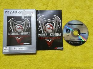 mortal kombat deadly alliance playstation 2 ps2 complete + manual Very good