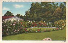 Outdoor Theatre, Blue Ridge, North Carolina NC --- Old Vintage Linen Postcard