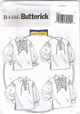 Shirt Historical Colonial Pirate Poet Costume Sewing Pattern XL XXL XXXL 46-56