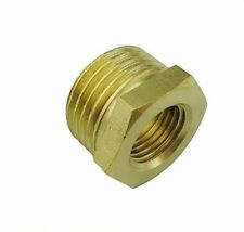 "Pipe Fitting NPT 3/8"" Female to 3/4"" Male Brass Gauge Meter adapter Bushing N-AT"