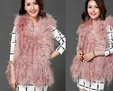Waist Length Fur Waistcoats for Women without Fastening