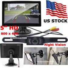 """Car Rear View Parking Kit 5"""" LCD Monitor + Night Vision Reversing Backup Camera"""