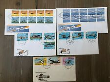 Air planes - 5 Covers from Marshall Islands / Guinea Bissau and Laos