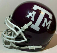 TEXAS A&M AGGIES UNIVERSITY NCAA THROWBACK COLLEGE FOOTBALL SCHUTT MINI HELMET