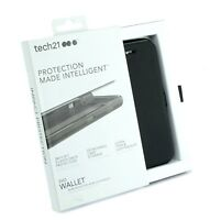 Genuine Tech21 Evo wallet flip book case cover apple iphone 7 8 + plus black 5.5