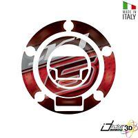ADESIVO 3D TAPPO BENZINA ROSSO GRIGIO FOR YAMAHA 600 XJ 6 F RG198/19M 2009-2012