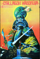 STAR WARS POSTER PAGE . 1977 HUNGARIAN FILM MOVIE POSTER . V25