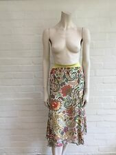 ETRO MILANO Floral Paisley Print Midi Silk Skirt JUST AMAZING Sz I 44 UK 12 US 8