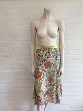 ETRO MILANO Floral Paisley Print Midi Silk Skirt JUST AMAZING Sz I 44 UK 12 US 8