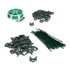 Pflanzenbinder Rankhilfe  Bindedraht  Pflanzenringe Pflanzenanbinder 10 Stück