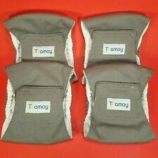Teamoy 4pc Set Reusable Male Dog Wraps Diaper Washable Puppy Belly Band  XS Gray
