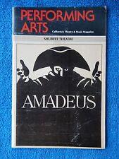 Amadeus - Shubert Theatre Playbill - January 1983 - Mark Hamill - John Wood