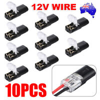 10PCS 12V CABLE SNAP PLUG IN CONNECTOR TERMINAL WIRE CONNECTIONS JOINERS CAR