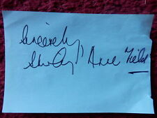ACTRESS SHIRLEY ANNE FIELD AUTOGRAPH