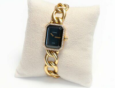 Chanel Premiere 18K Gold Diamond Ladies Chain Link Watch