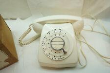 VINTAGE ROTARY TELEPHONE DESK TABLE PHONE ONYX BRAND WHITE STANDARD 600 BOX