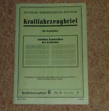 Orig. DDR KFZ-Brief Kraftrad 250er PANNONIA de luxe mit Beiwagen 14 PS Bj.1959