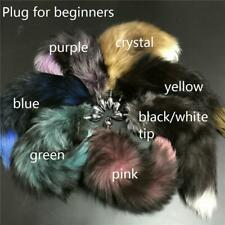 Real Fox Fur Tail Plug Funny Toy Adult Games Cosplay Gift