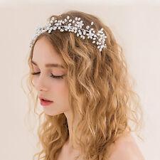 Hochzeit Braut Haarschmuck Strass Tiara Blumen Perlen Haarkamm Stirnband