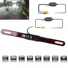 Auto Car License Plate Reverse Camera Wireless 5LED IR Night Vision Parking line