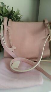 Radley Leather Crossbody Messenger Shoulder Bag Light Pink Medium