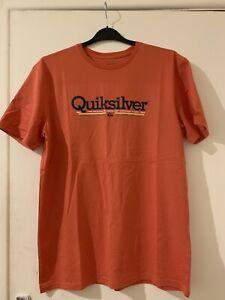 Mens Orange Quiksilver T-Shirt Large