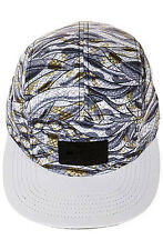 Entree 5 Panel Hat - Strapback - White - The Palmetto - New - Free Fast Shipping