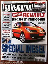 L'AUTO-JOURNAL du 1/2002; Spécial Diesel/ Comparatif Clio dCi/ Polo TDi/ 206 HDi