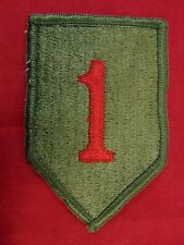 U.S. Army 1st Infantry Division Merrowed Edge Shoulder Patch