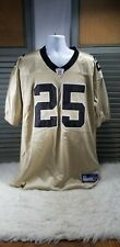 RARE New Orleans Saints Reggie Bush #25 Football Jersey Size 52 By Reebok Gold