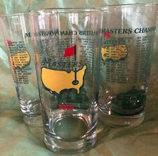 3 New 2010 Augusta Masters Golf Tournament Commemorative Glasses