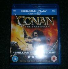 CONAN the Barbarian. bluray     3D. 2D & DVD, X2 DISC SET.