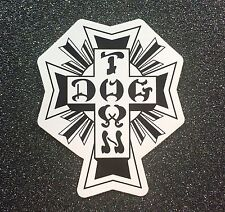 Dogtown Black/White Cross Skateboard Sticker SMALL 2.25in si Dog Town