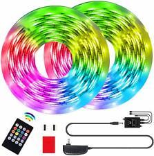 Led Strip Lights RGB Strip 32.8Ft/10M Flexible Rope Lights 300 LEDs SMD 3528 Mus