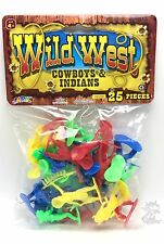 Wild West Action Figures Cowboys And Indians 25pc New