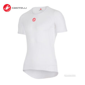 Castelli PRO ISSUE SS Short Sleeve Cycling Base Layer : WHITE