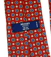 Brooks Brothers Red And Blue Geometric Men's Tie Silk Neck Tie